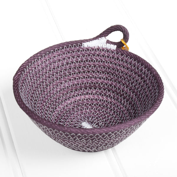Mini dyed basket – purple