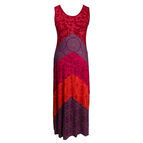 Raspberry vee maxi dress