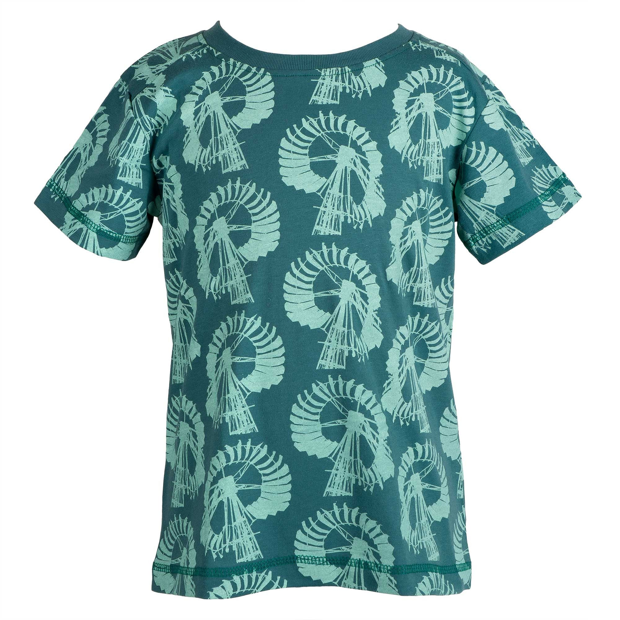 Green windmill t-shirt