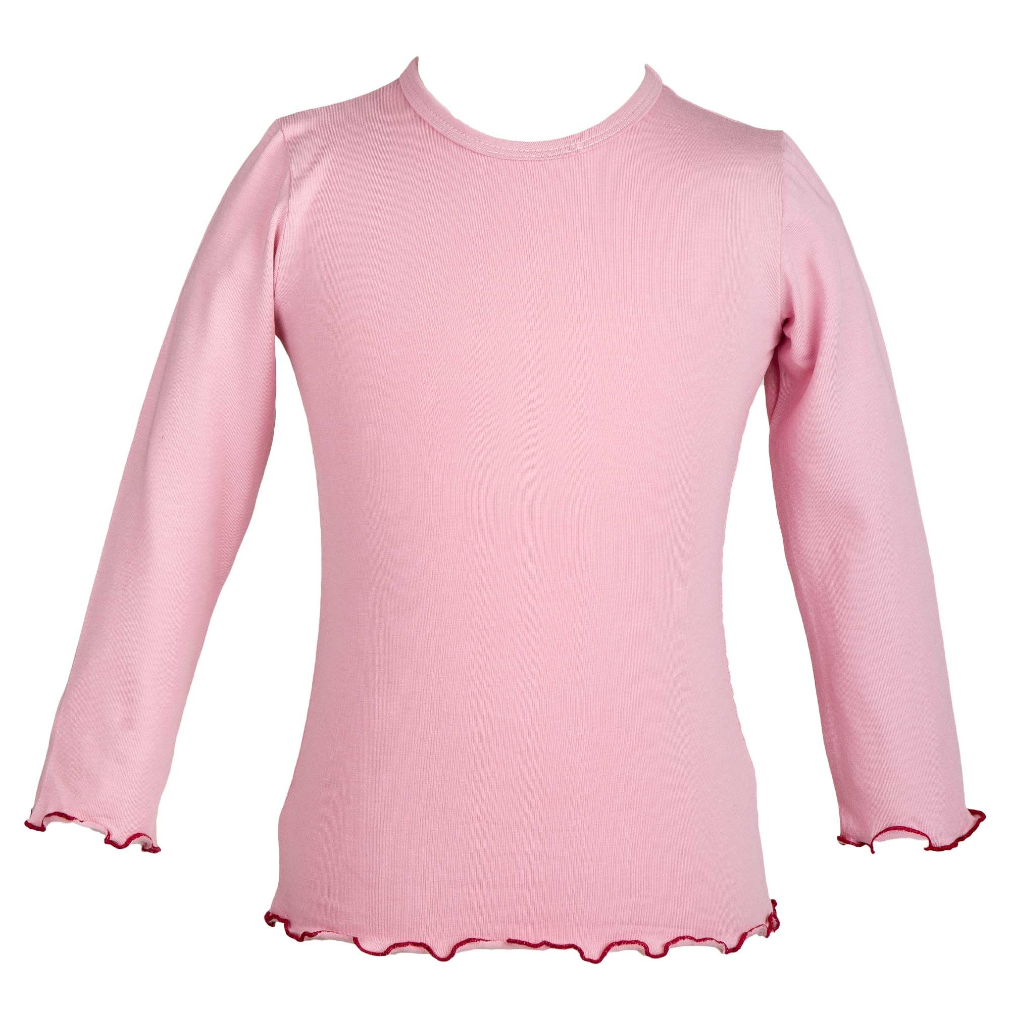 Long-sleeved pink smoke top