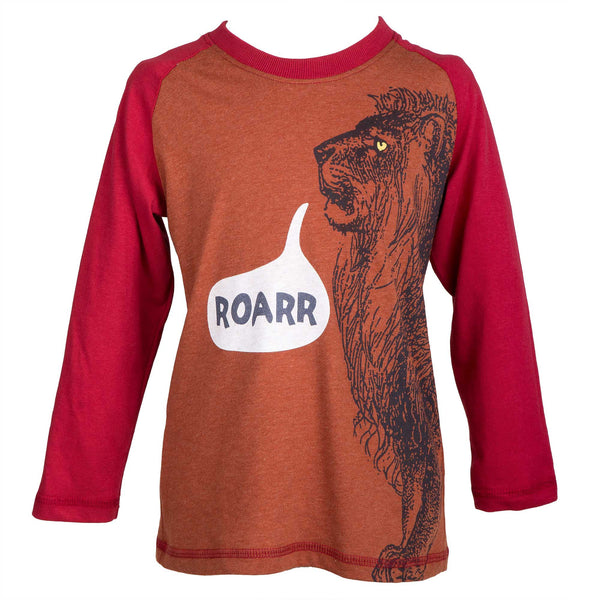 'Roar' long sleeve top – rust