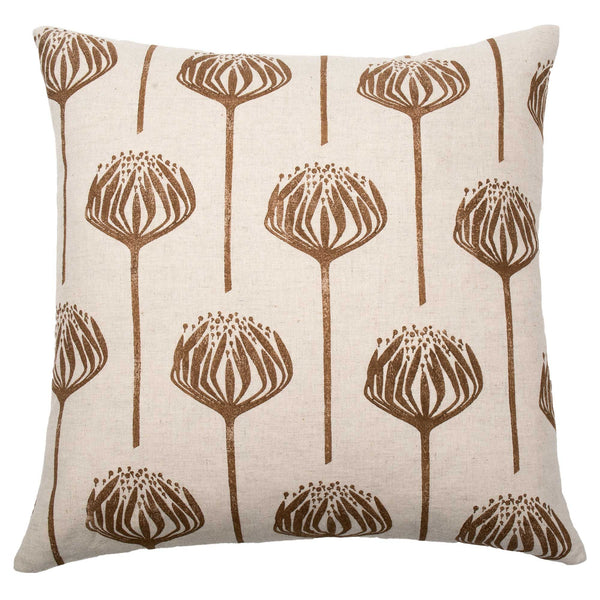 Brown Proteas cushion