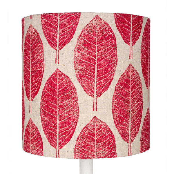 Pink Leaves table lampshade