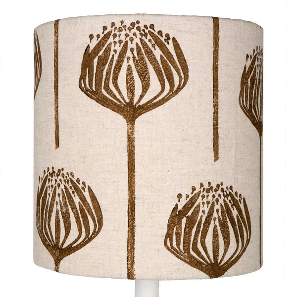 Brown Proteas table lampshade
