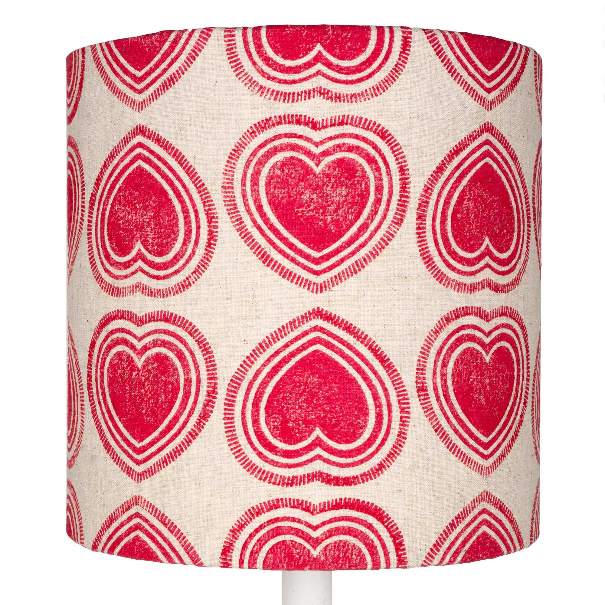 Pink Hearts table lampshade