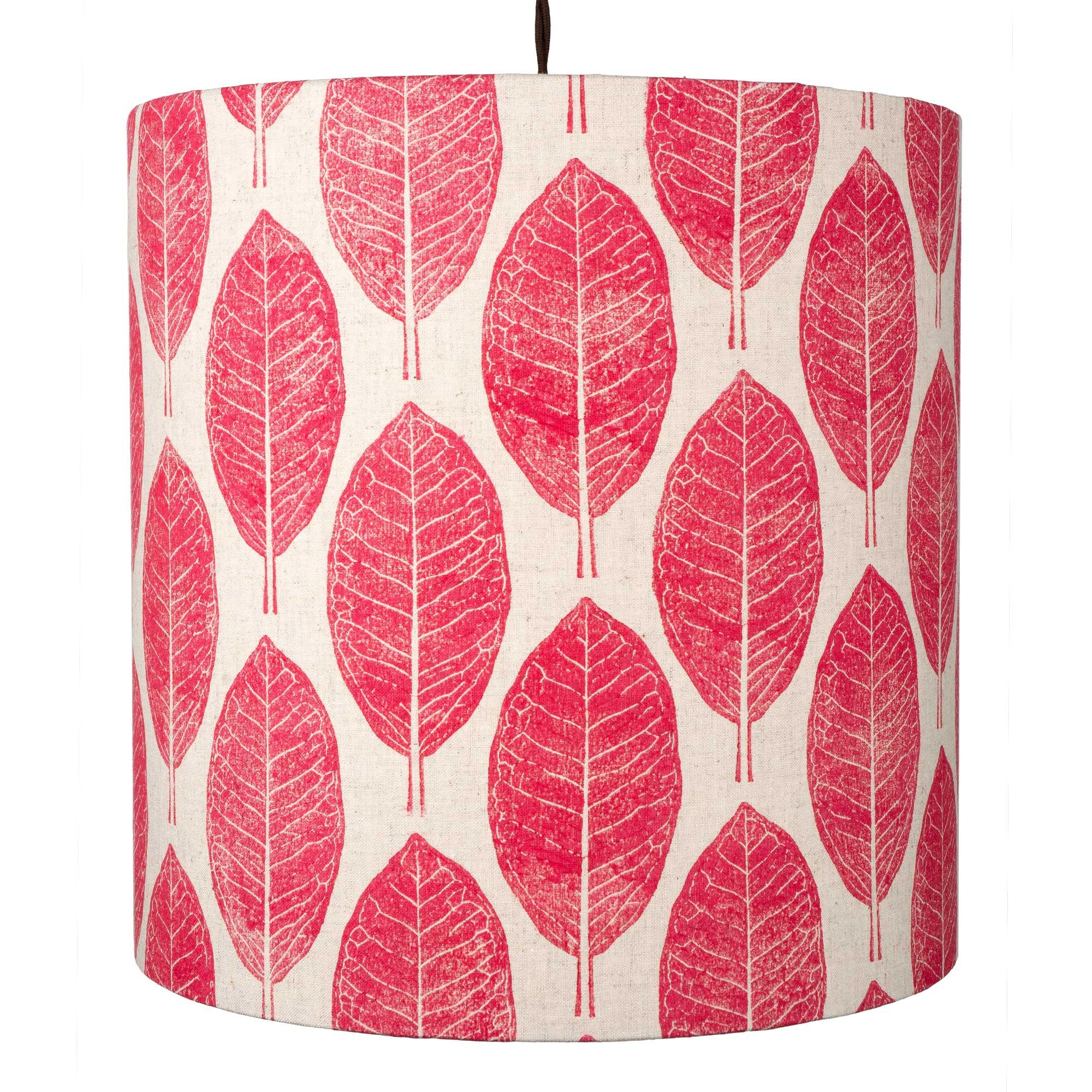 Pink Leaves pendant lightshade