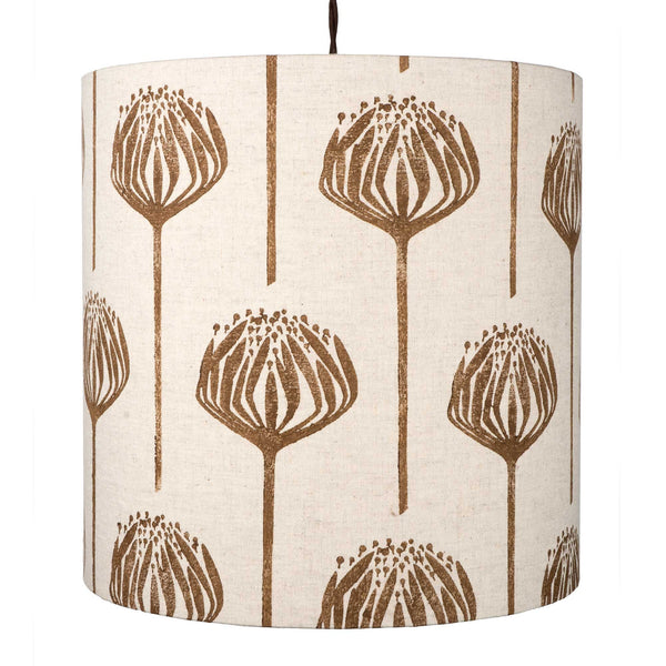 Brown Proteas pendant lightshade