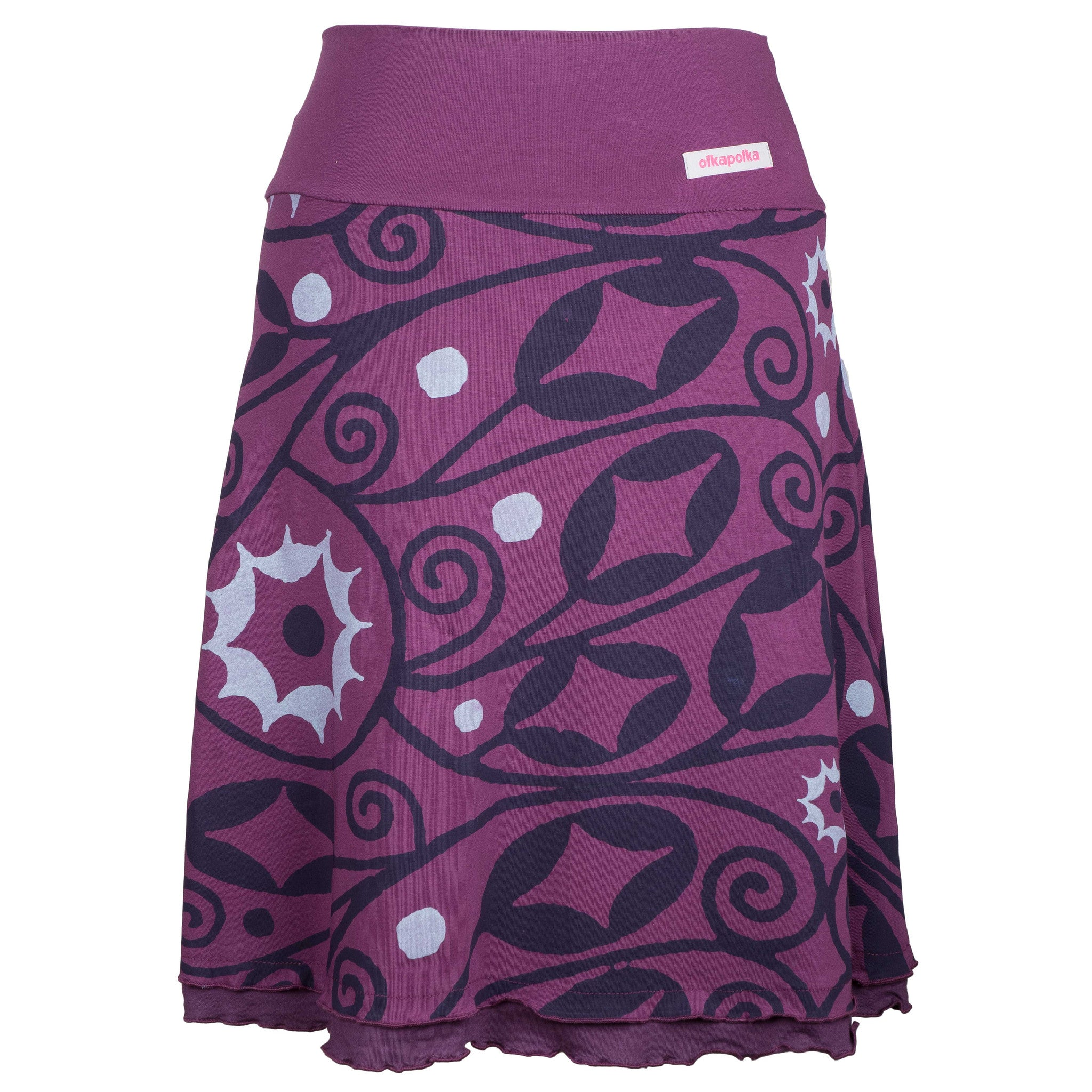 A-line Purple frill skirt