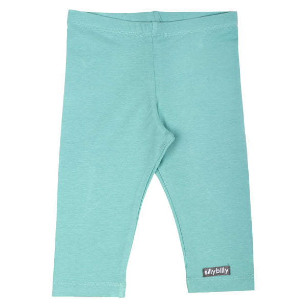 Aqua cropped leggings