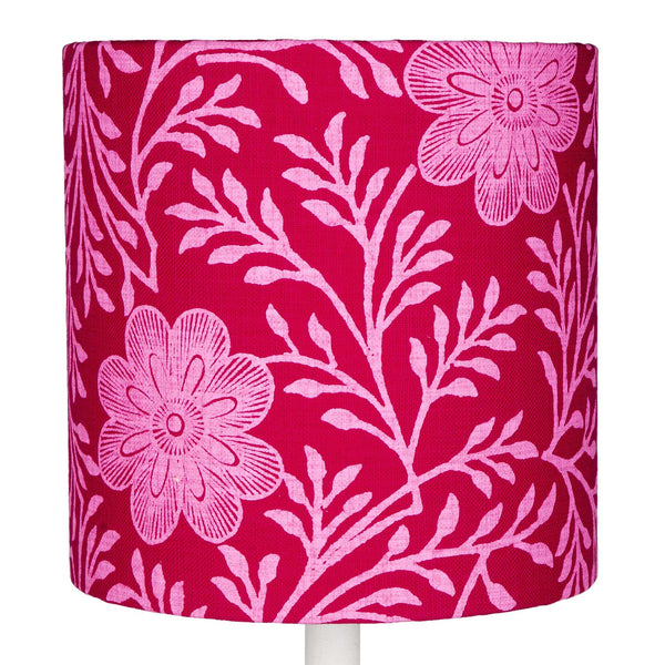 Fuchsia Khanga Flower table lampshade