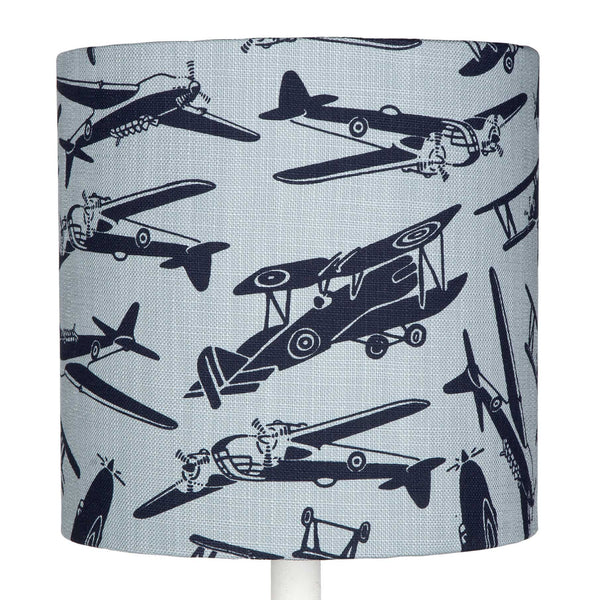 Blue Aeroplanes table lampshade