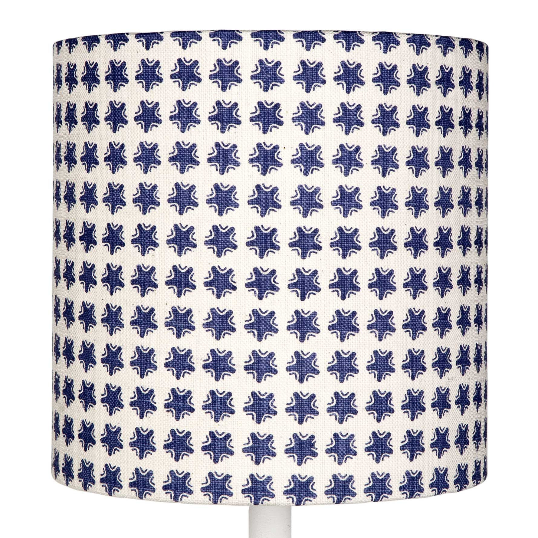 Blue Stars table lampshade