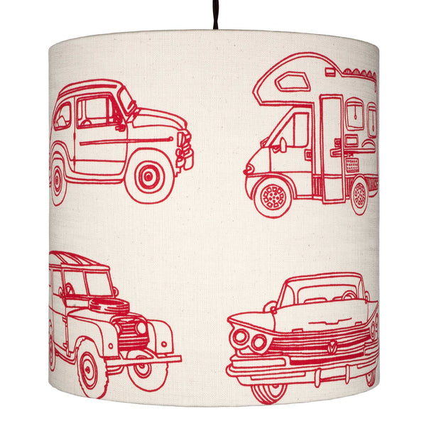 Retro Vehicles pendant lampshade