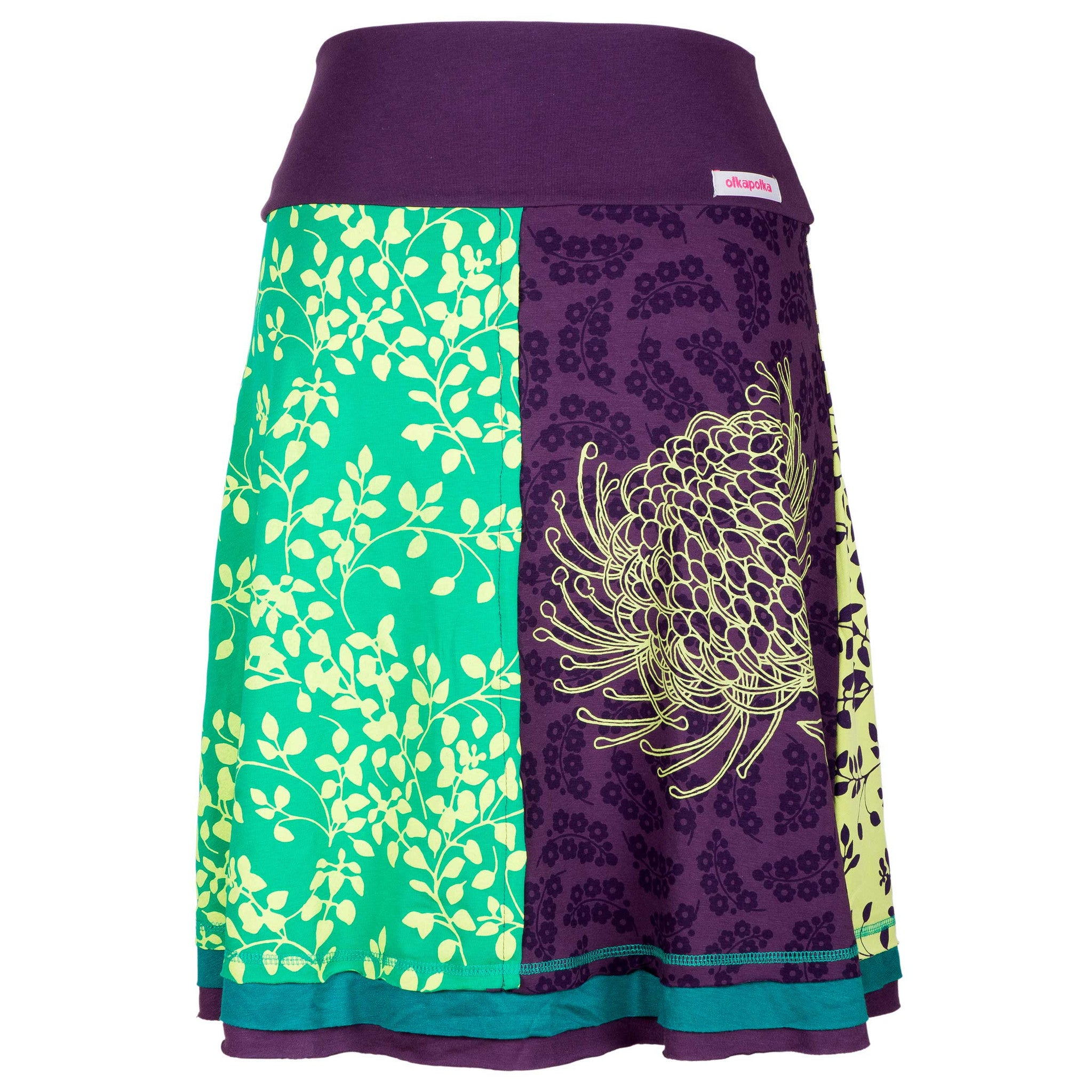 A-line Purple protea short skirt