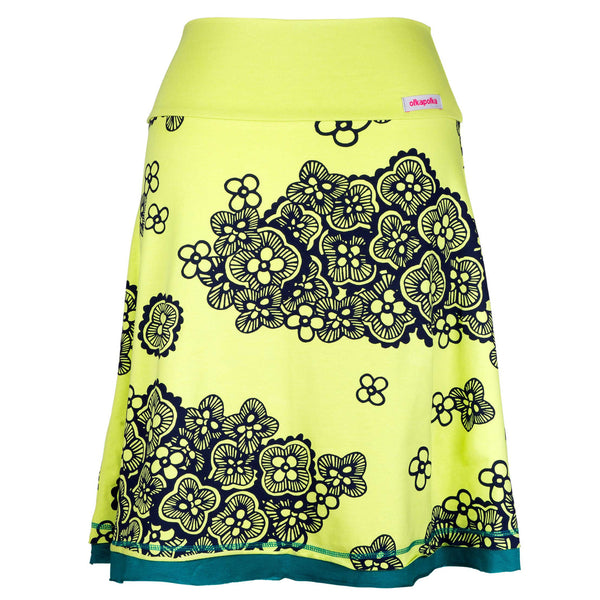 A-line Pistachio cloudband short skirt