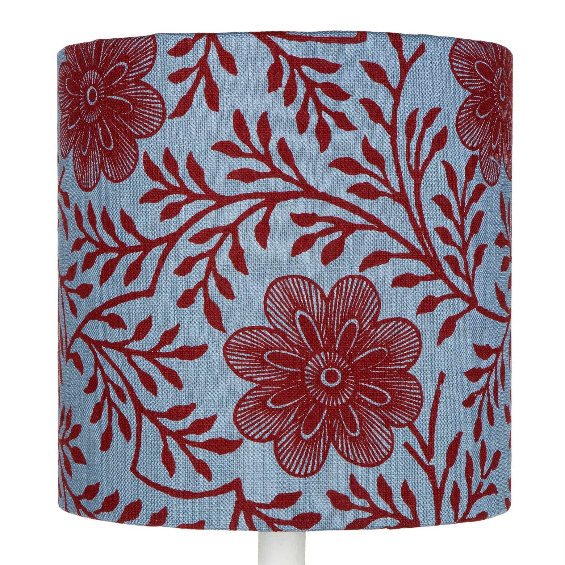 Blue Khanga Flower table lampshade