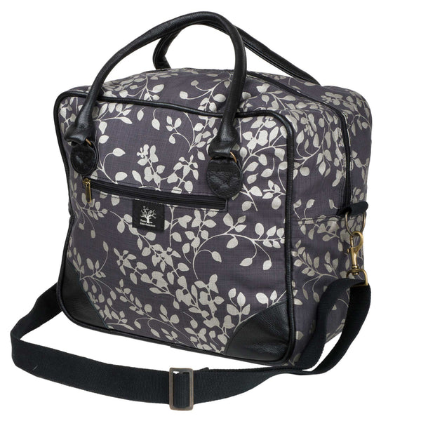 Gunmetal Leaflet square overnight bag