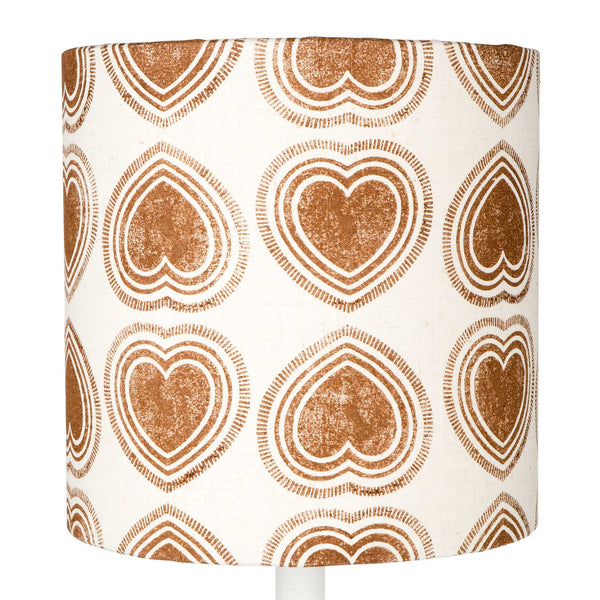 Brown Hearts table lampshade
