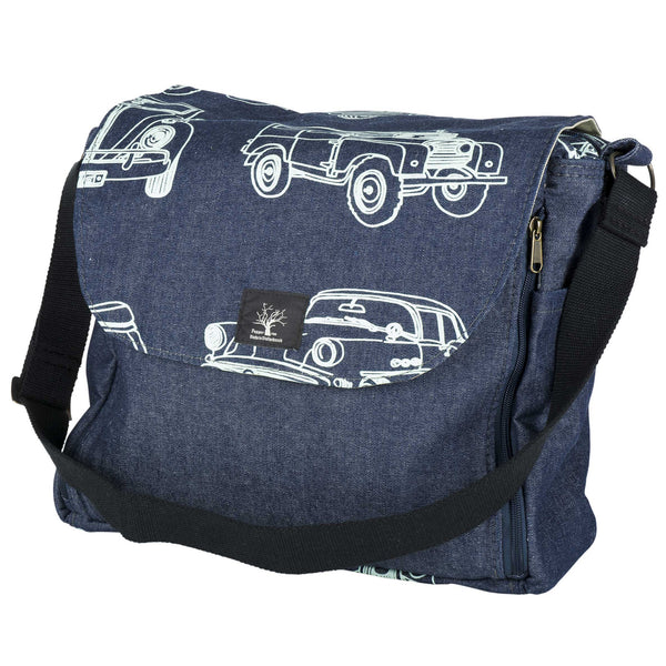 Retro road baby changing bag