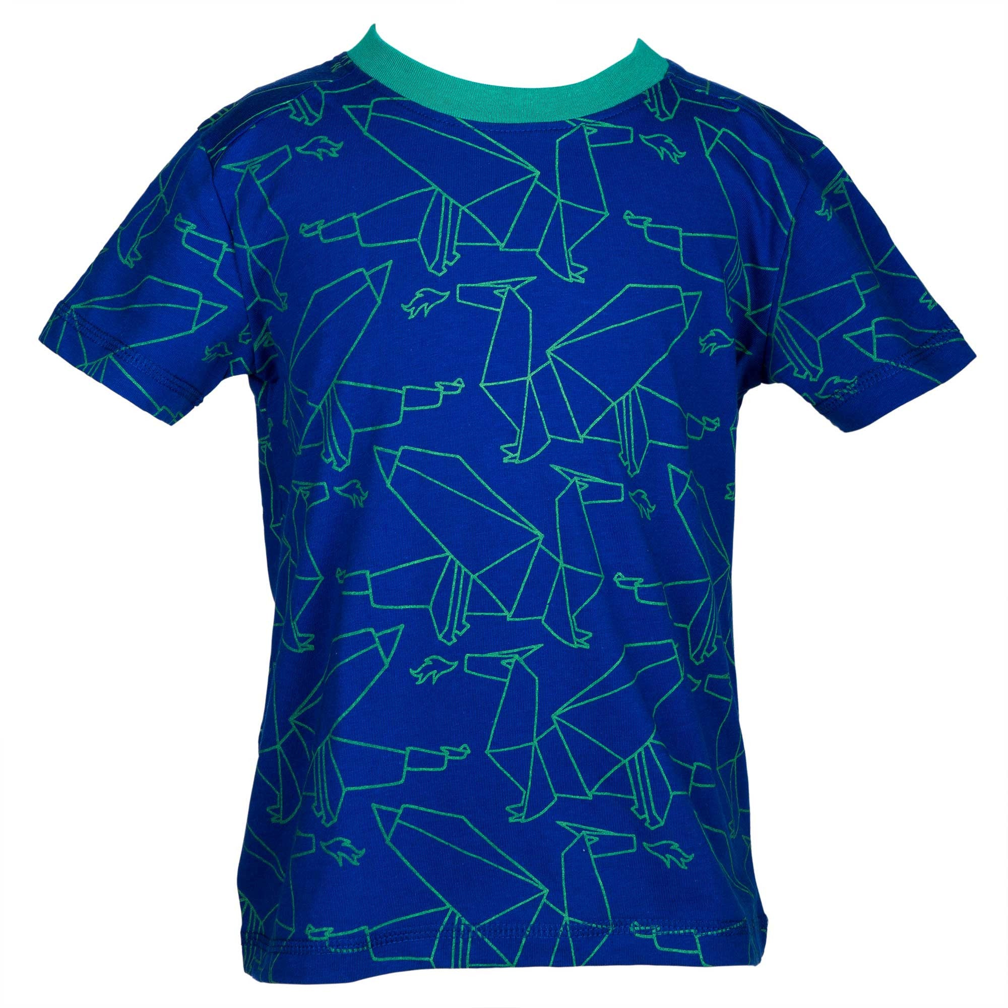Green origami dragons t-shirt