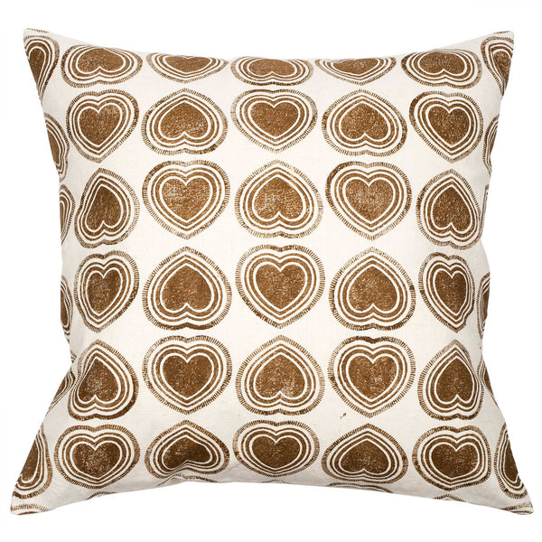Brown Hearts cushion