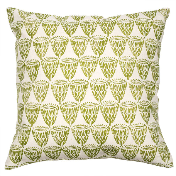 Green King Protea cushion