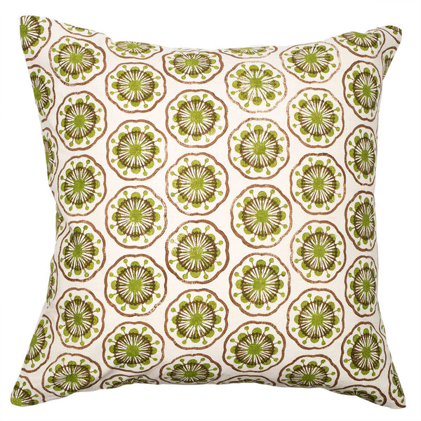 Green & Brown Atomic cushion