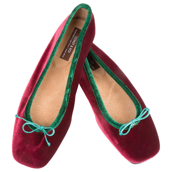 Claret Square Toe pump