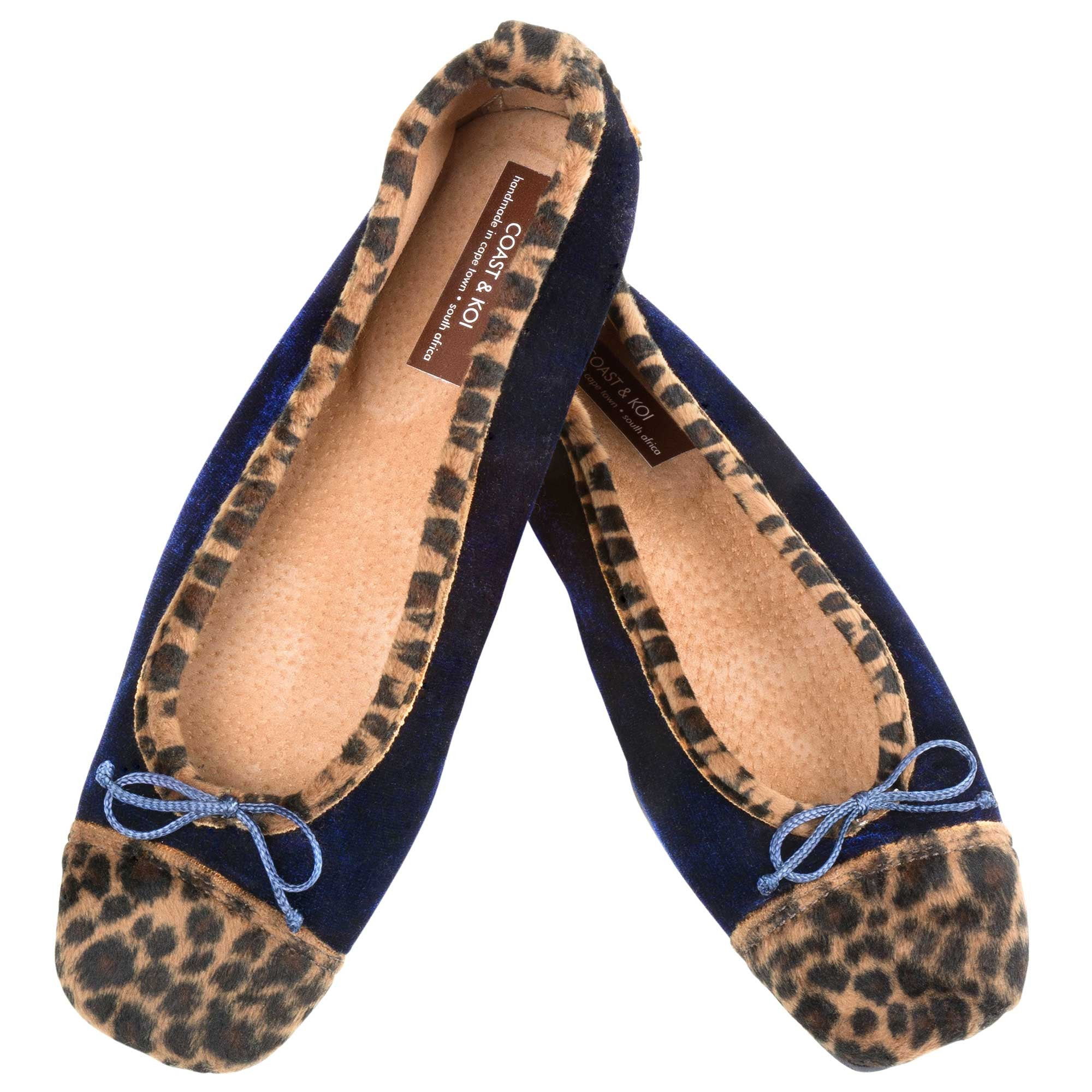 Navy Square Toe pump