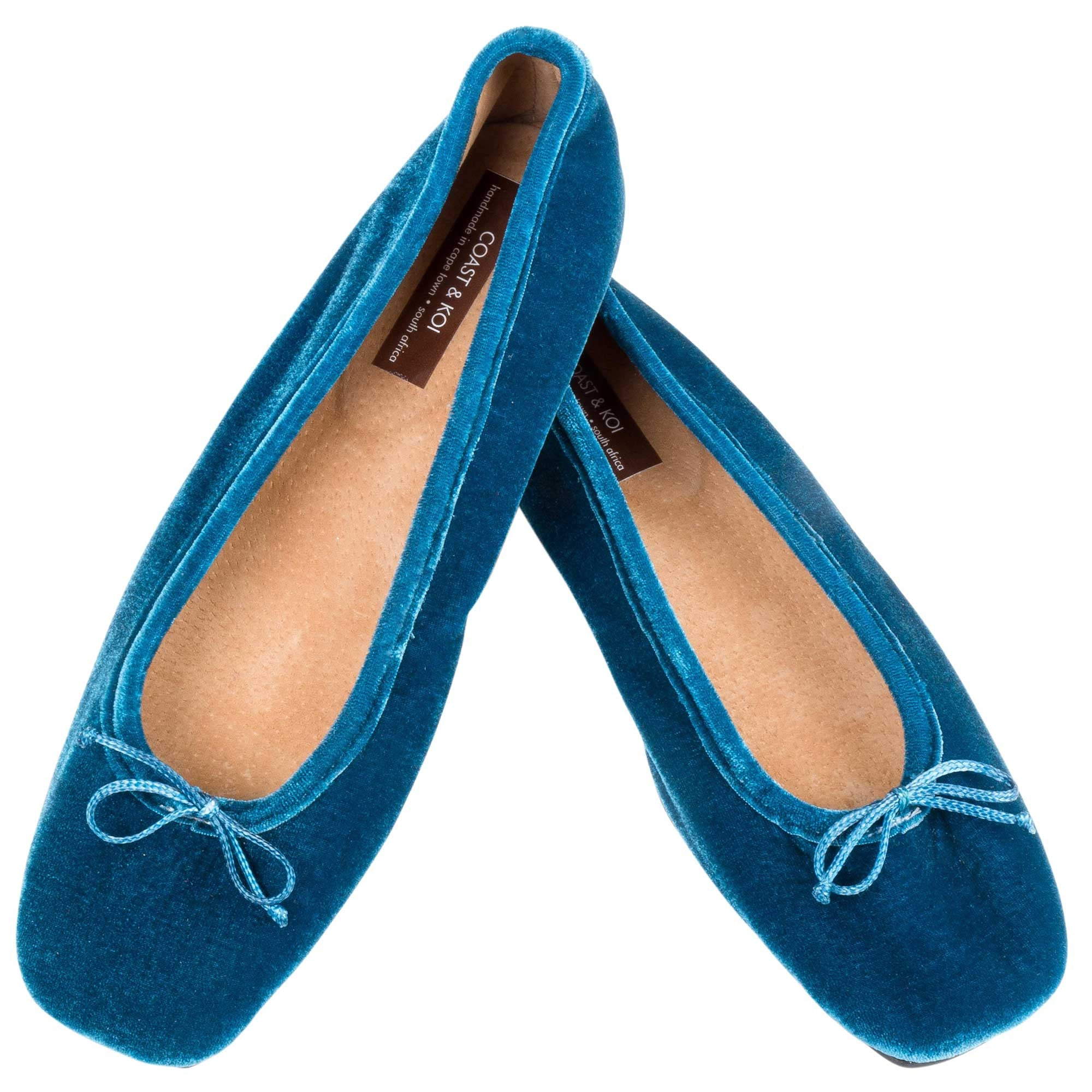 Teal Square Toe pump