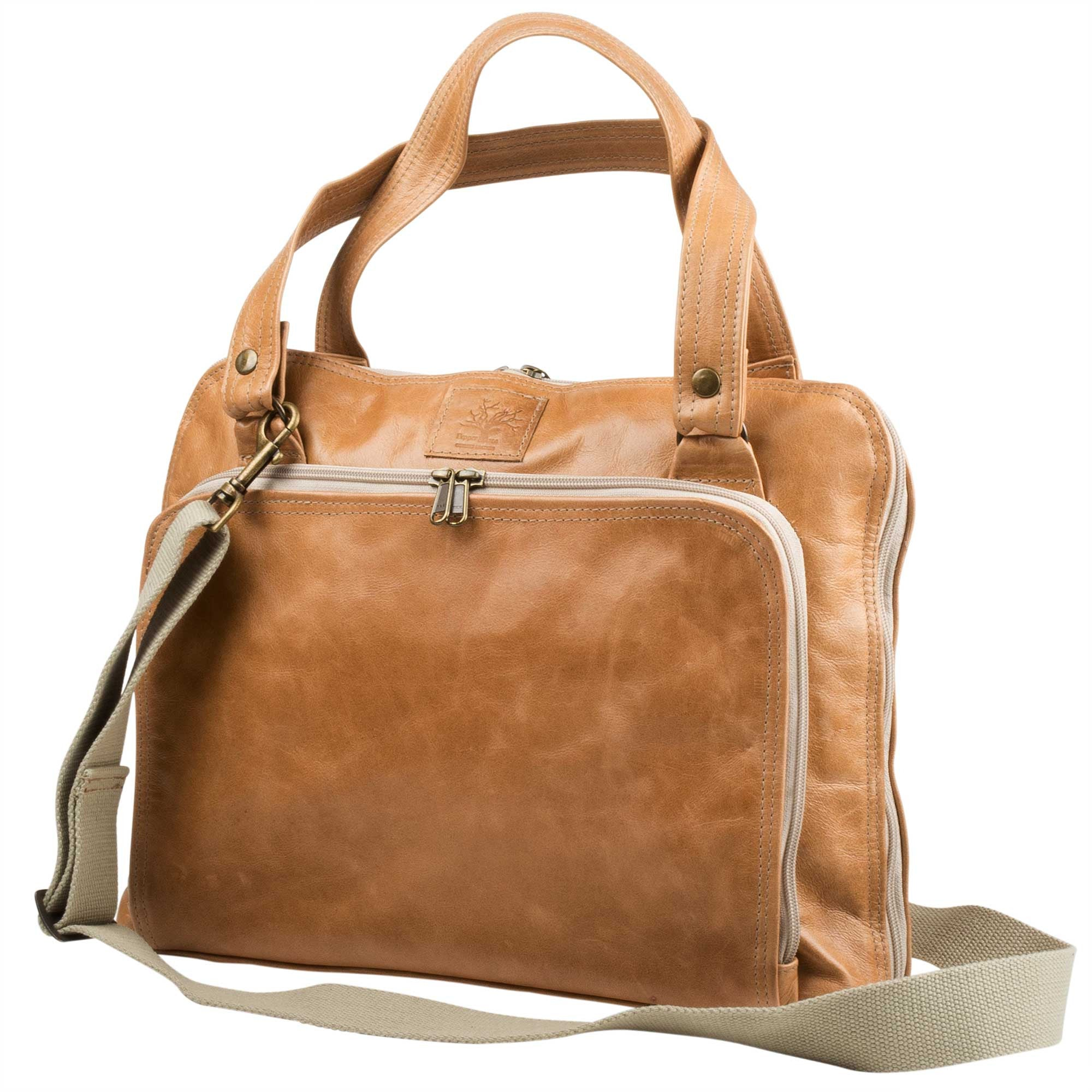 Leather Office bag – light