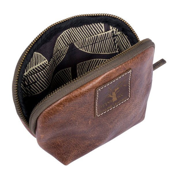 Men's leather pouch purse