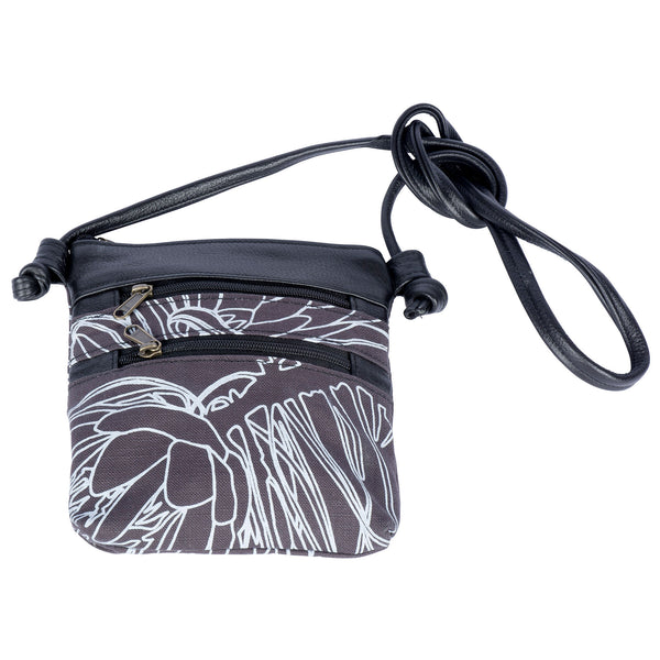 Charcoal protea Small Knotted bag