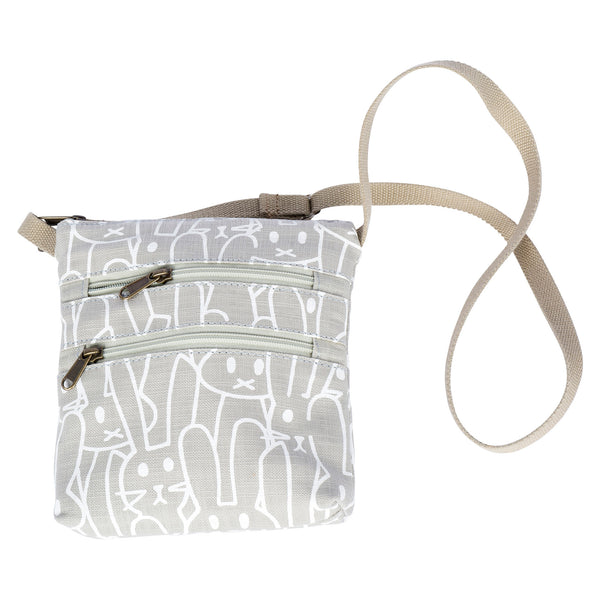 Grey bunnies girl's sling bag
