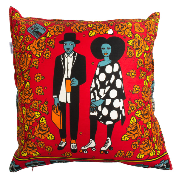 Mickey & Mercy red cushion