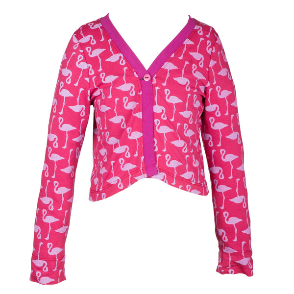 Pink Lake hearts cardigan