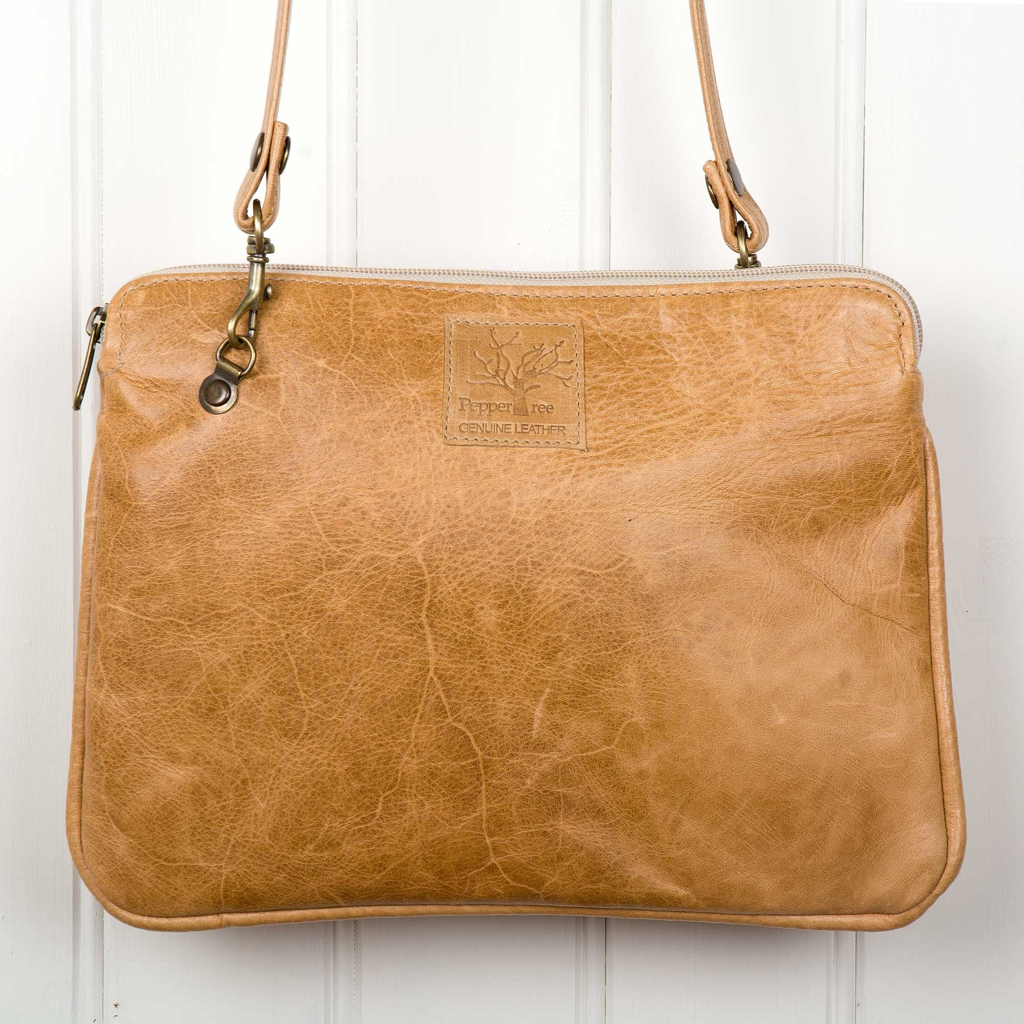 Leather Clutch Sling – light
