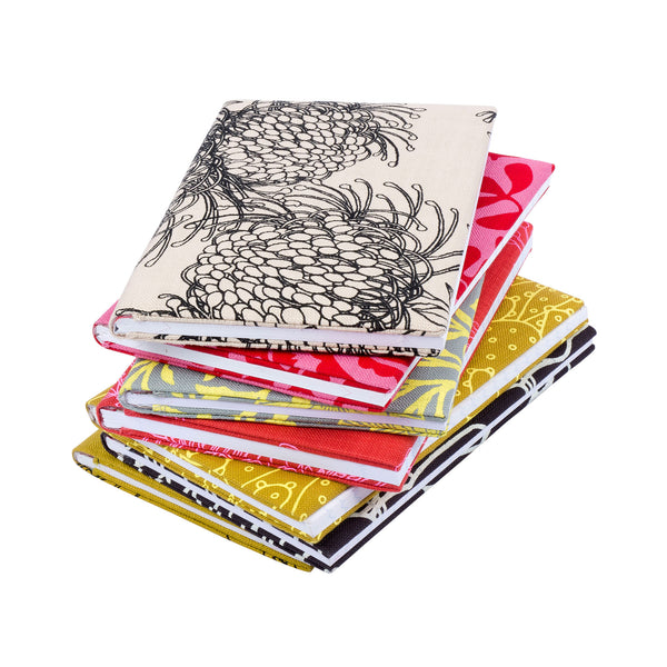 A6 Notebooks - reds, blacks, yellows