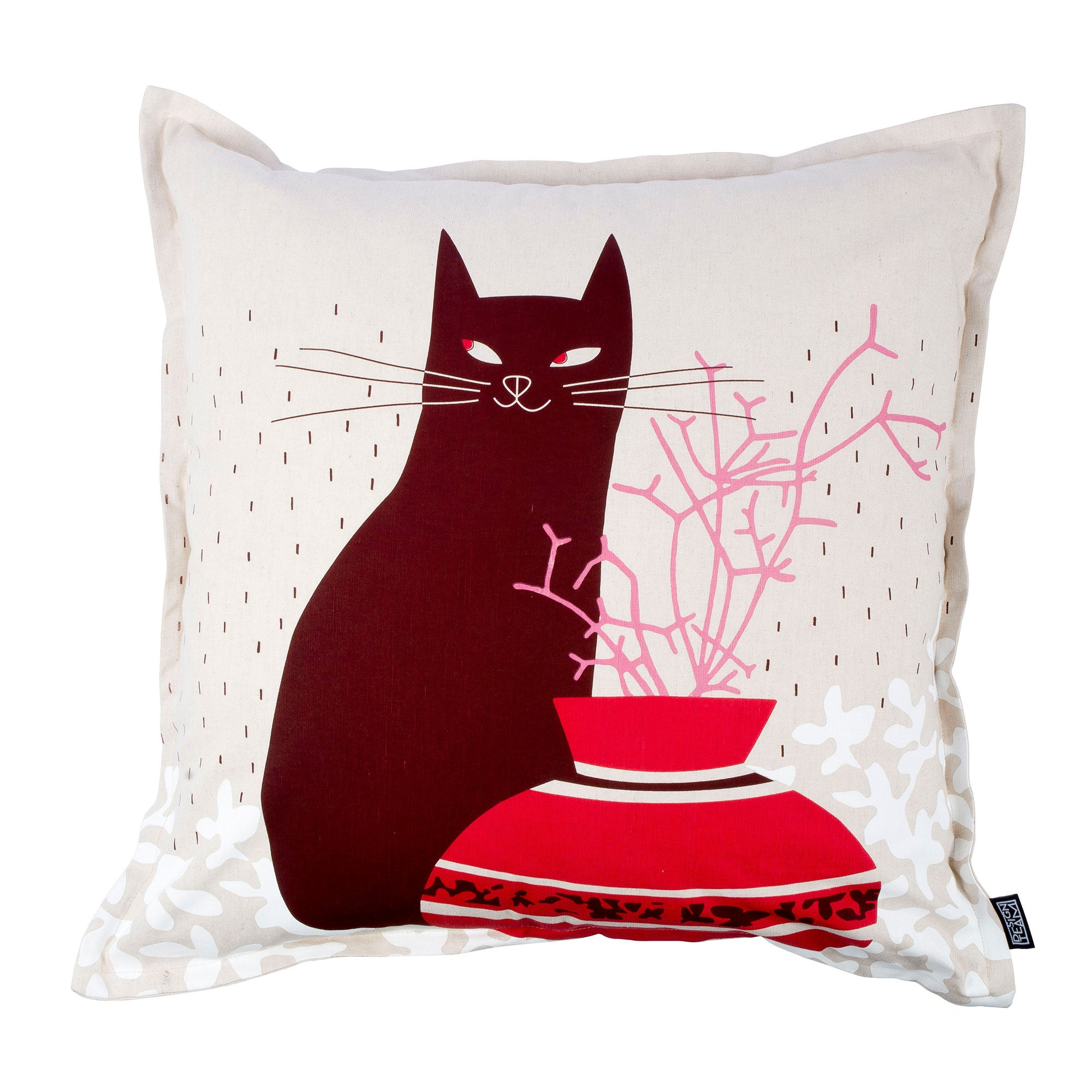 Cool Cat Claret cushion