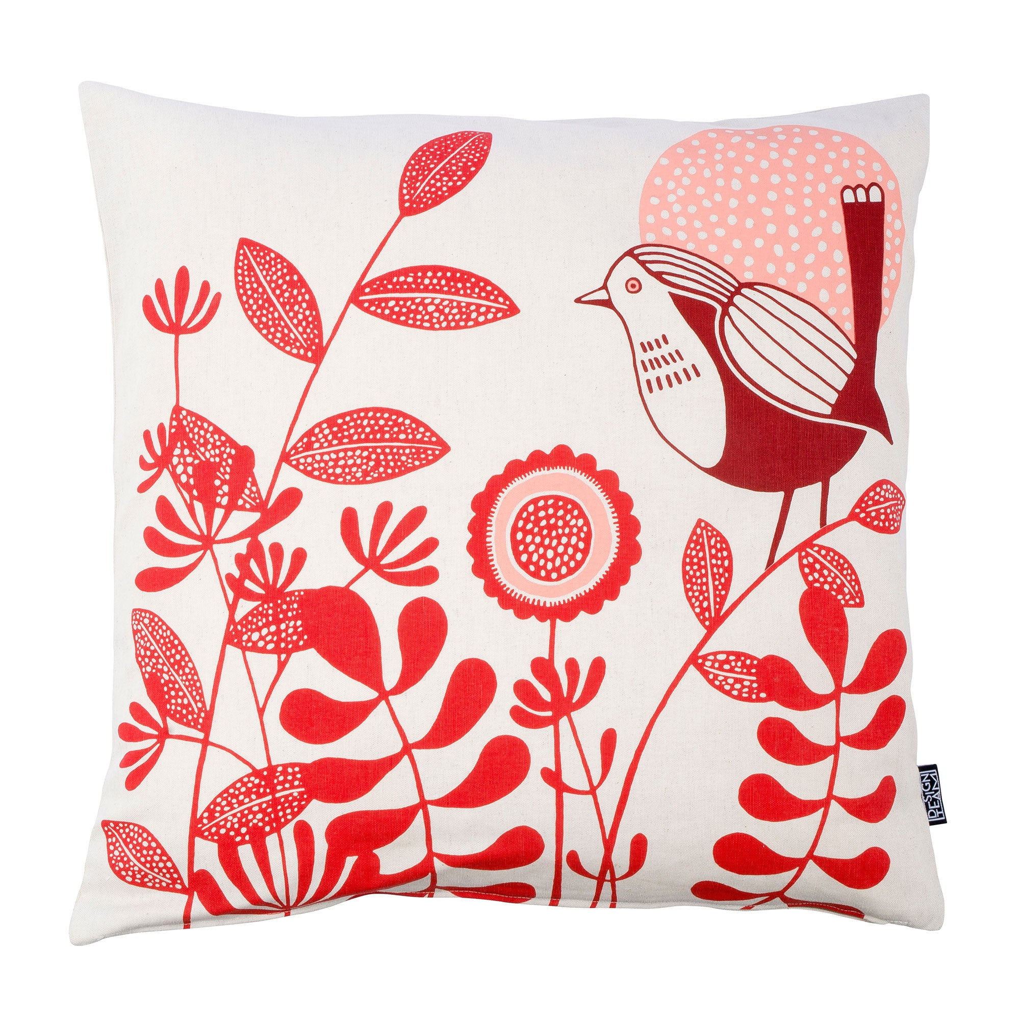 Meadow Birds Red cushion