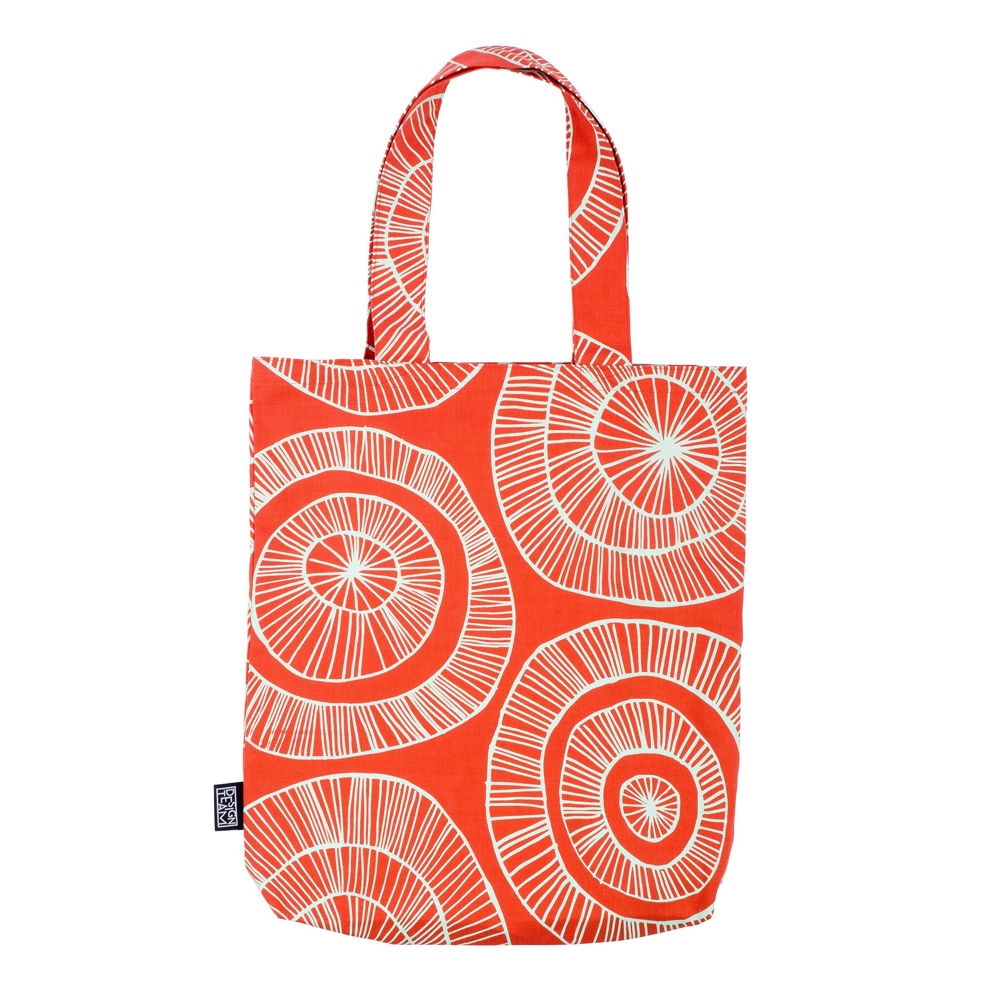 Orange basket tote bag