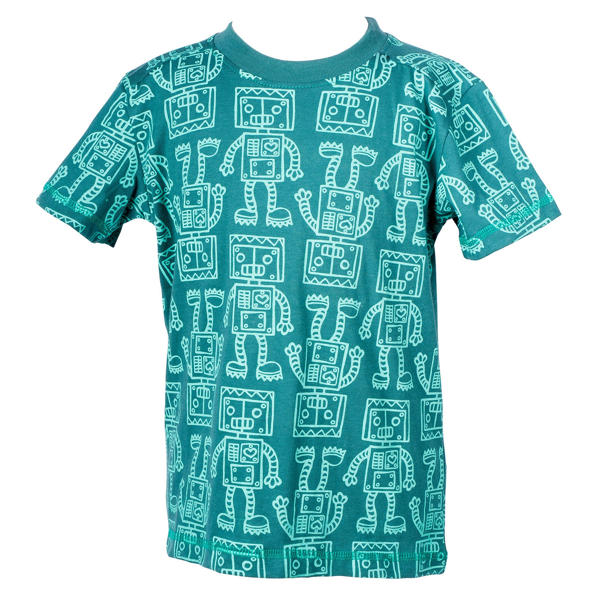 Green Robots boy's t-shirt