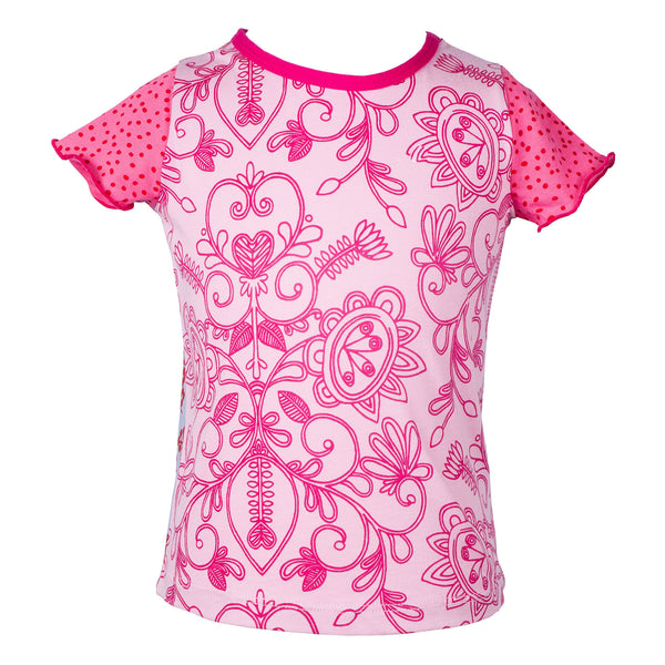 Pink filigree caterpillar top