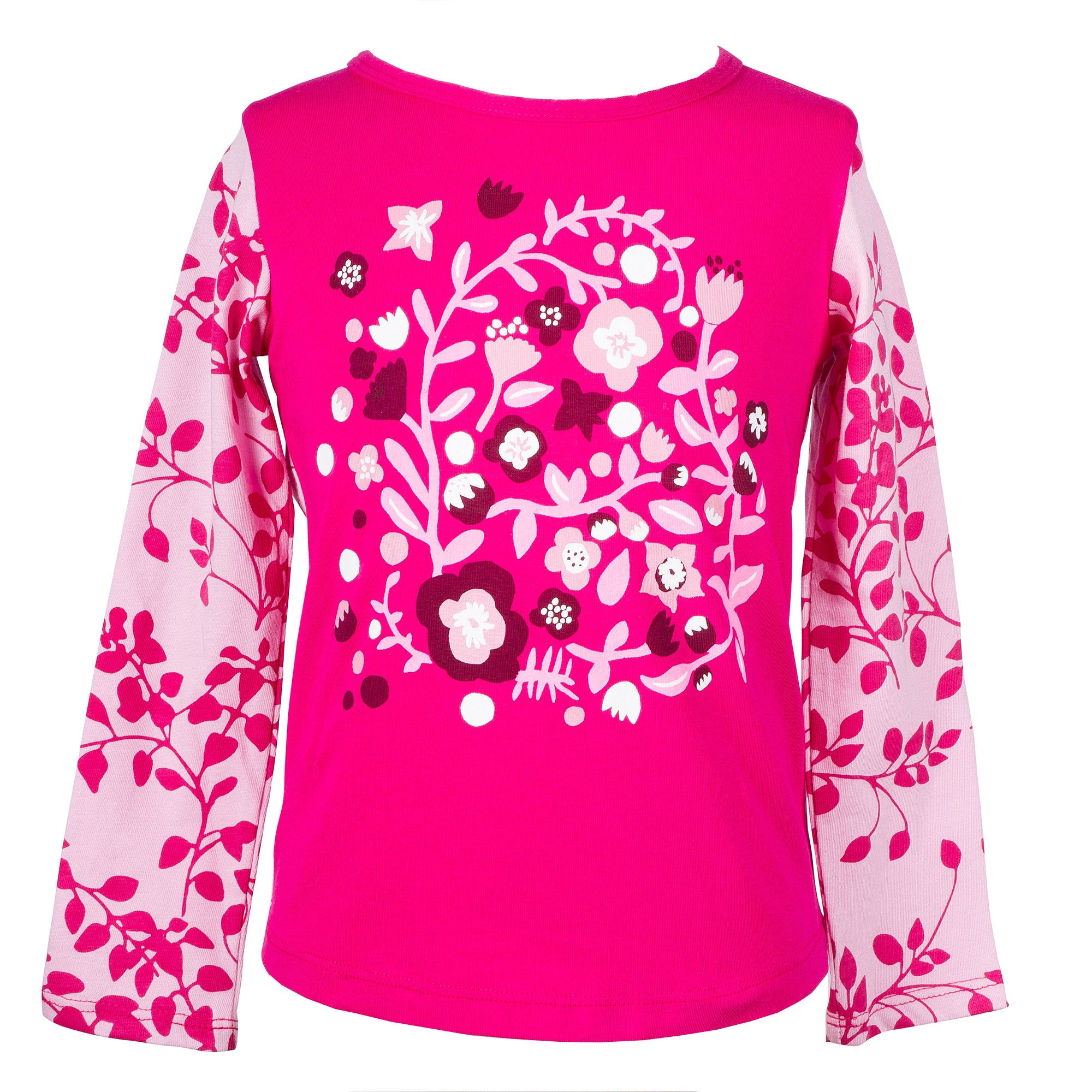 Pink wallflowers long-sleeved top