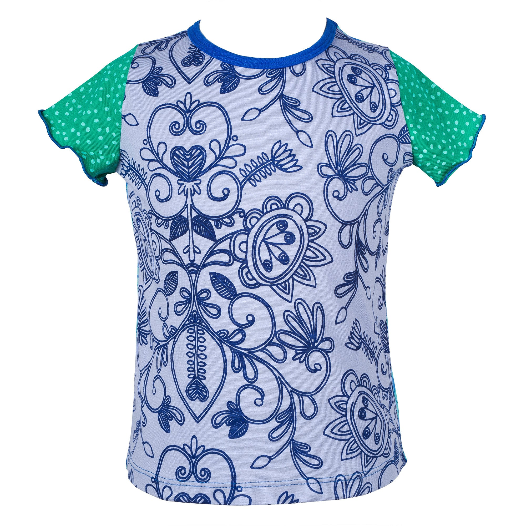 Blue filigree caterpillar top
