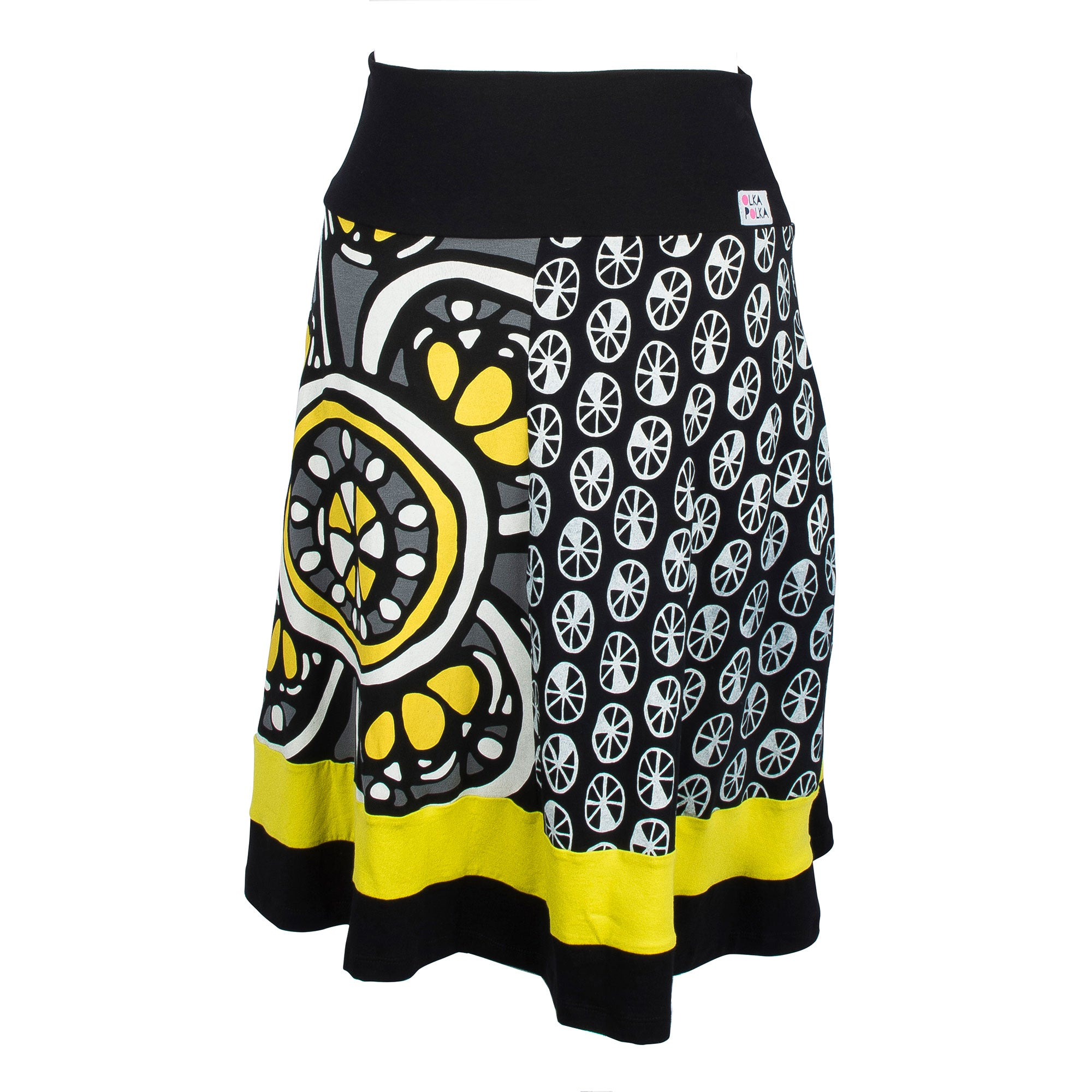 Yellow crinkleflower skirt