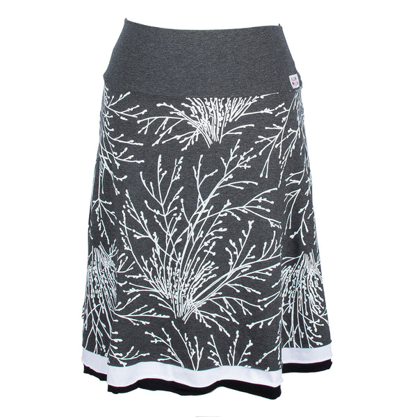 Grey coral bush skirt