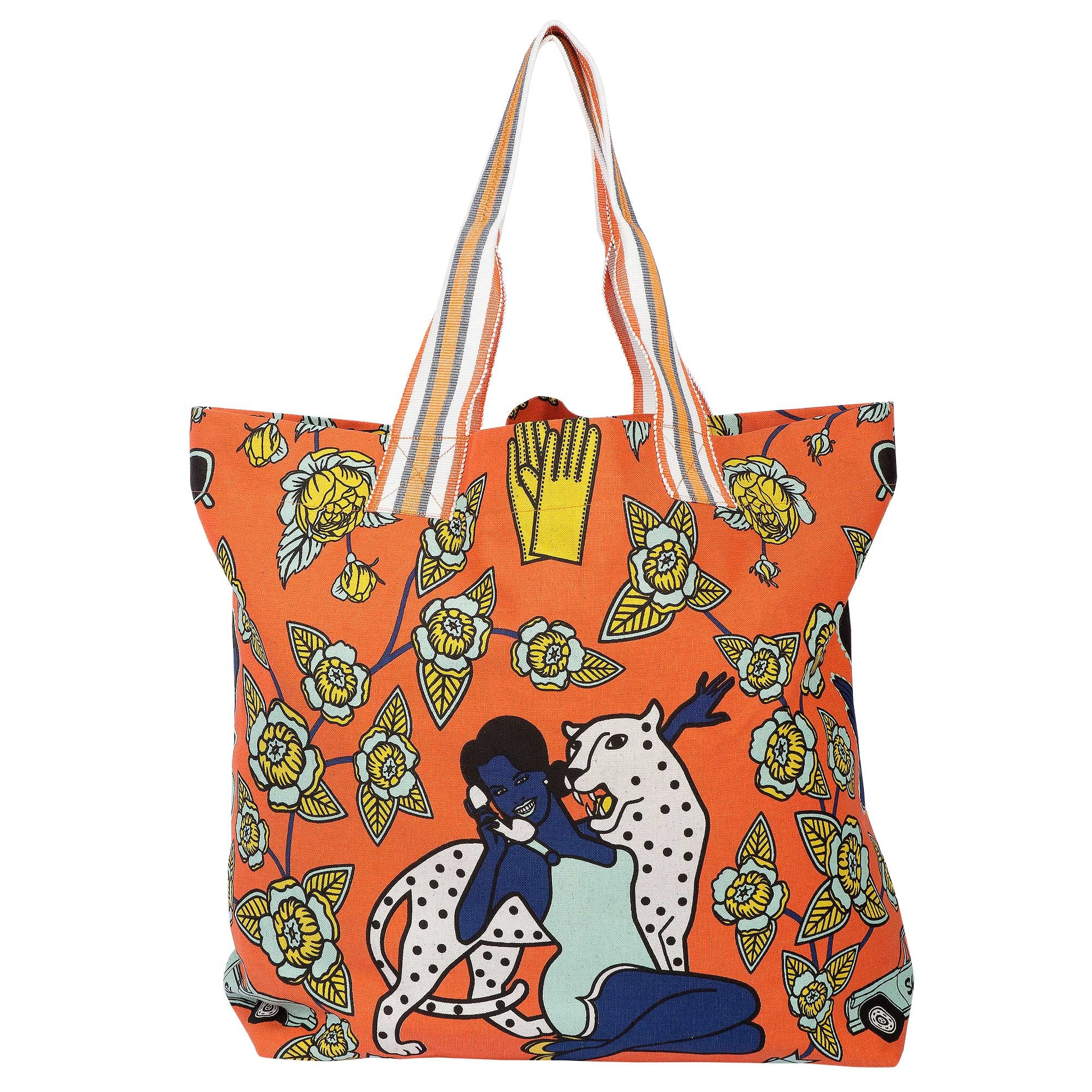 O'Baby orange beach bag