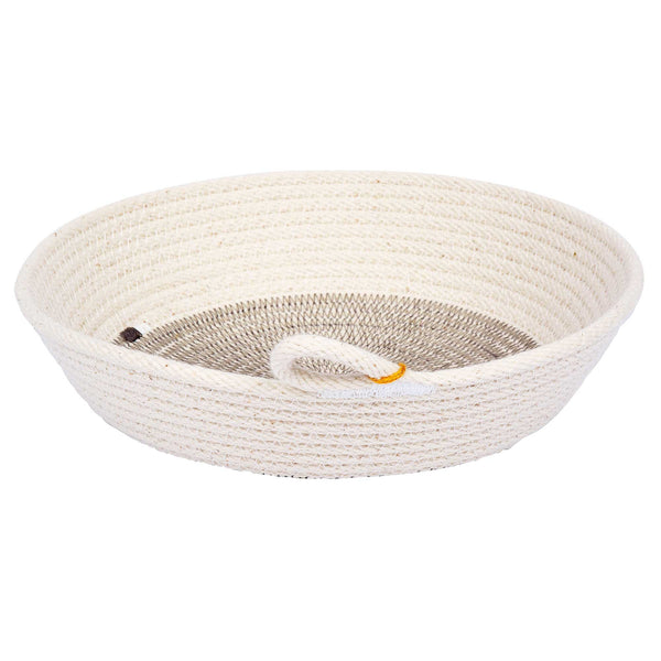 Small natural flat bowl – grey