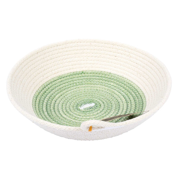 Small dyed flat bowl – green